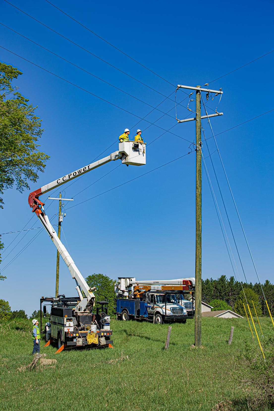 power transmission crew